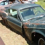 1968 Mustang Fastback Rusted in Half 005