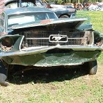 1968 Mustang Fastback Rusted in Half 006