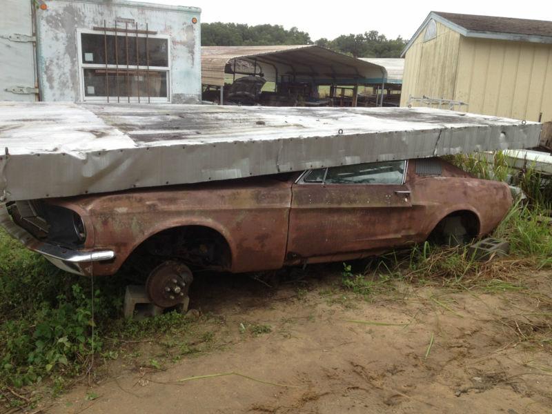 1968 mustang fastback 390 gt rustingmusclecars com