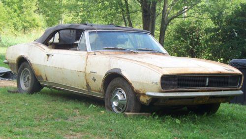 1967 Camaro Rs Convertible Rustingmusclecars Com